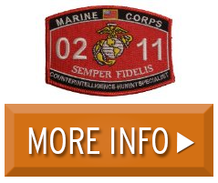 Marine Corps 0211 CounterIntelligence HumInt Specialist MOS Patch ...